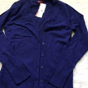 V neck cardigan royal/navy blue